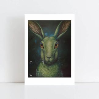 Print of Green Hare No Frame