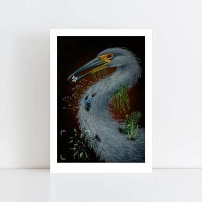 Print of Heron No Frame