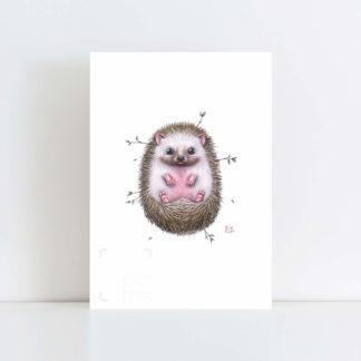 Print of 'Little Hedgehog' No Frame