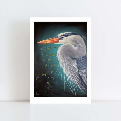 Print of Great Blue Heron No Frame