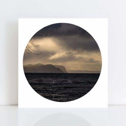 An Original Circle Photo Print of 'Lake Taupo Storm' No Frame