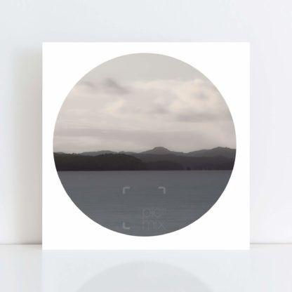 An Original Circle Photo Print of 'Whangaparoa Evening' No Frame