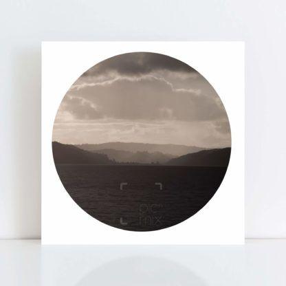 An Original Circle Photo Print of 'Whangaparoa Rain' No Frame