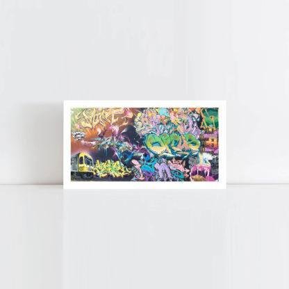 Original Photo Print of a Graffiti Panorama No Frame