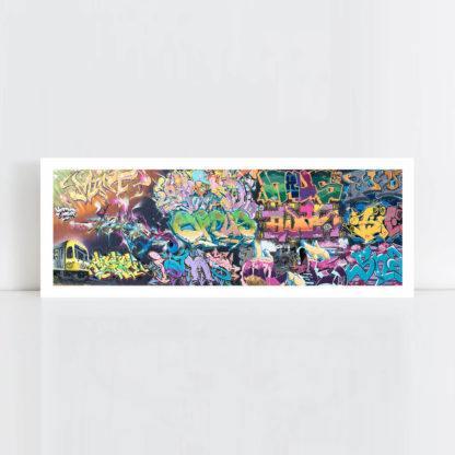 Original Photo Print of a Graffiti 3 Panorama No Frame