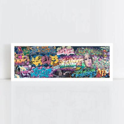 Original Photo Print of a Graffiti 3-2 Panorama No Frame