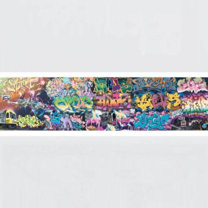 Original Photo Print of a Graffiti 4-1 Panorama No Frame