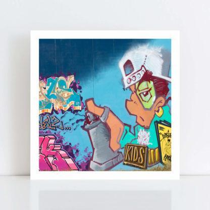 Original Photo Print of 'Graffiti 8' no frame