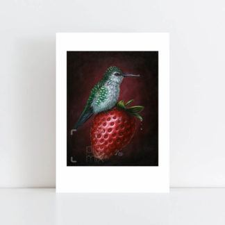 Print of 'Humming Berry' No Frame